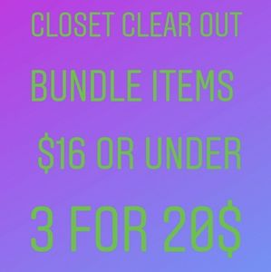 Sale 3/$20 Bundle 3 items priced at $16